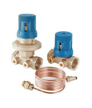Автоматический регулятор перепада давлений в комплекте с запорно-регулировочным клапаном